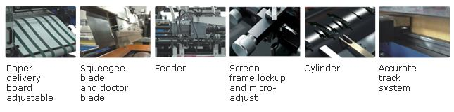 Swing Roll To Roll Cylinder Screen Printing Machines For Label And Cards